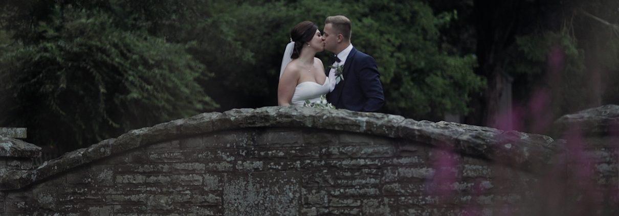 eaves hall wedding video of Charlotte and Nathan